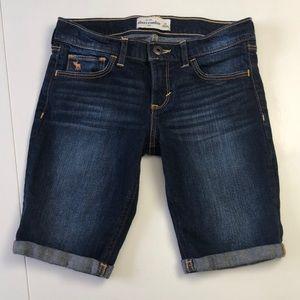 Abercrombie kids long jean shorts